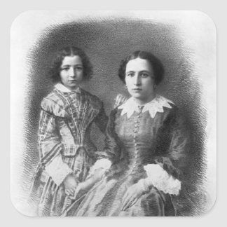 Sarah Bernhardt and her mother? Square Sticker
