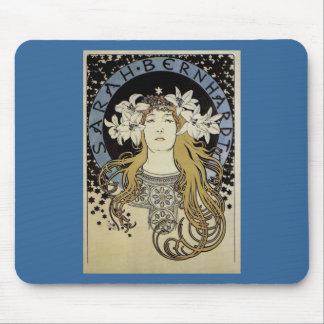 Sarah Bernhardt by Alphonse Mucha Mousepads