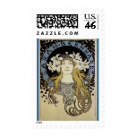 Sarah Bernhardt by Alphonse Mucha Postage Stamp