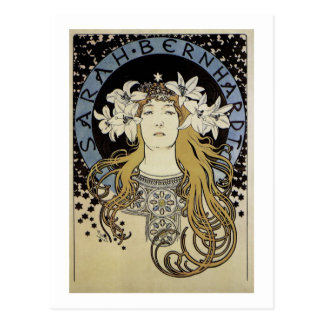 Sarah Bernhardt by Alphonse Mucha Postcard