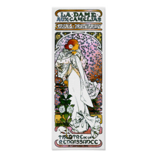 Sarah Bernhardt, dama Camélias aux. del La Posters