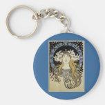 Sarah Bernhardt de Alfonso Mucha Llavero Personalizado