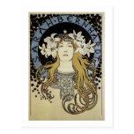 Sarah Bernhardt de Alfonso Mucha Postal