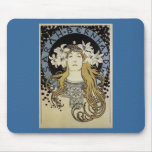 Sarah Bernhardt de Alfonso Mucha Tapetes De Ratones