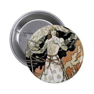 ~ Sarah Bernhardt de Jeanne D'Arc Pin Redondo De 2 Pulgadas