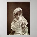 Sarah Bernhardt en el papel de Marion Delorme Póster