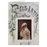 Sarah Bernhardt en el papel de Marion Delorme Tarjeta De Felicitación