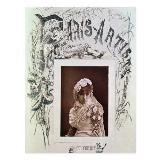 Sarah Bernhardt en el papel de Marion Delorme Postales