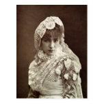 Sarah Bernhardt en el papel de Marion Delorme Tarjeta Postal