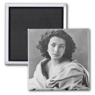Sarah Bernhardt  in costume, c.1860 2 Inch Square Magnet