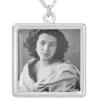 Sarah Bernhardt  in costume, c.1860 Silver Plated Necklace