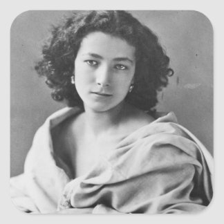 Sarah Bernhardt  in costume, c.1860 Square Sticker