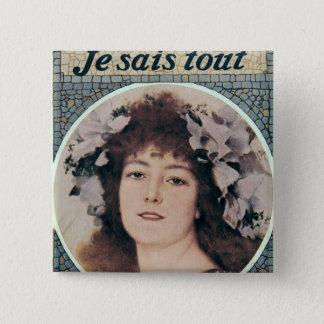 Sarah Bernhardt  in Gismonda Pinback Button
