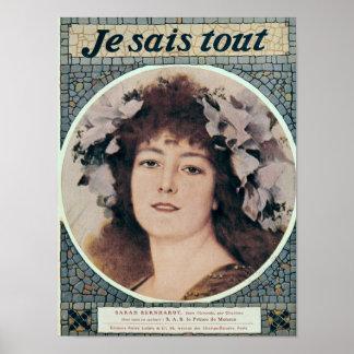 Sarah Bernhardt  in Gismonda Poster