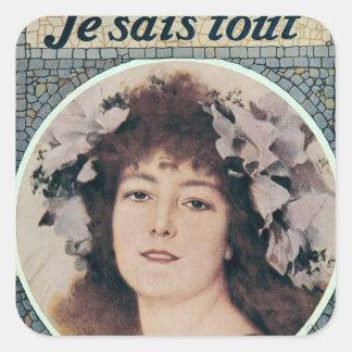 Sarah Bernhardt  in Gismonda Square Sticker