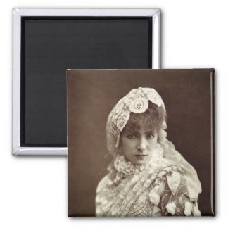 Sarah Bernhardt  in the role of Marion Delorme 2 Inch Square Magnet