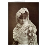 Sarah Bernhardt  in the role of Marion Delorme Card