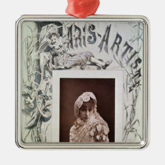 Sarah Bernhardt  in the role of Marion Delorme Metal Ornament