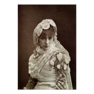 Sarah Bernhardt  in the role of Marion Delorme Poster