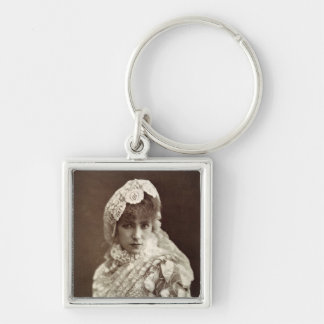 Sarah Bernhardt  in the role of Marion Delorme Silver-Colored Square Keychain