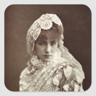 Sarah Bernhardt  in the role of Marion Delorme Square Sticker
