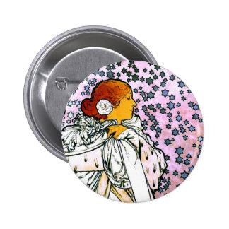 Sarah Bernhardt, La Dame aux Camélias Pinback Button