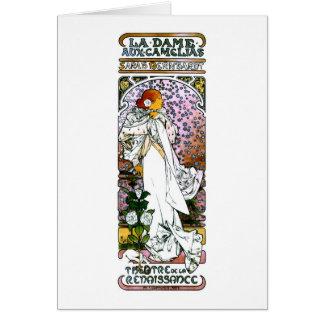 Sarah Bernhardt, La Dame aux Camélias Greeting Card