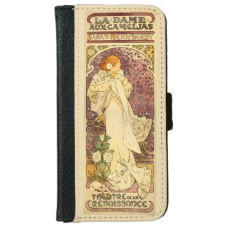 Sarah Bernhardt, La Dame aux Camélias, Mucha Fine iPhone 6 Wallet Case