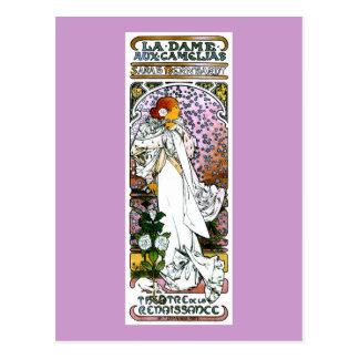 Sarah Bernhardt, La Dame aux Camélias Postcard