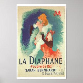 Sarah Bernhardt La diaphane vintage French Poster