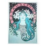 Sarah Bernhardt Mucha Vintage Art Nouveau Retro Post Cards