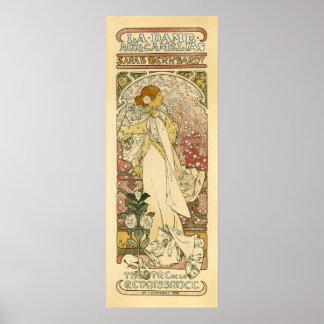 Sarah Bernhardt, poster aux. de dama Camélias del
