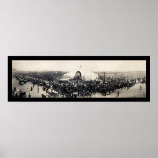 Sarah Bernhardt Tent Chicago Photo 1906 Poster
