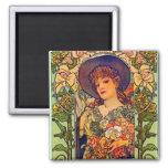 Sarah Bernhardt Tosca. Refrigerator Magnet