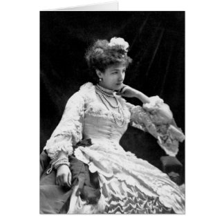 Sarah Bernhardt Vintage Photo - 1877 Card