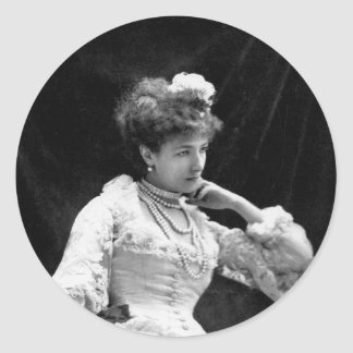 Sarah Bernhardt Vintage Photo - 1877 Classic Round Sticker