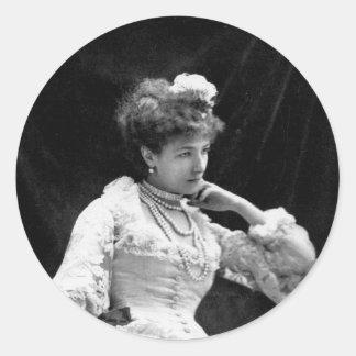 Sarah Bernhardt Vintage Photo - 1877 Classic Round Sticker