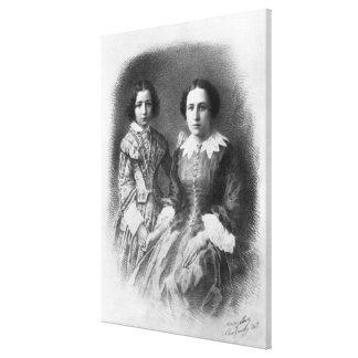 ¿Sarah Bernhardt y su madre? Impresion En Lona