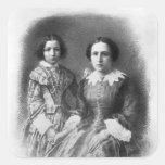 ¿Sarah Bernhardt y su madre? Pegatina Cuadrada