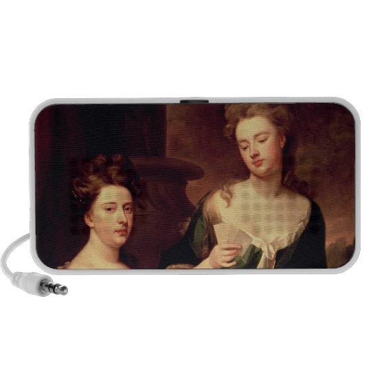 Sarah, Duchess of Marlborough playing Portable Speaker