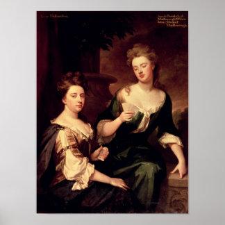 Sarah, Duchess of Marlborough playing Poster