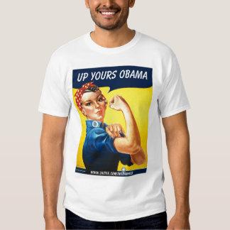 Sarah el remachador, encima el suyo Obama, Polera