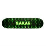 Sarah green fire Skatersollie skateboard.