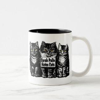sarah hastes cats Two-Tone coffee mug