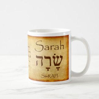 SARAH Hebrew Name Mug