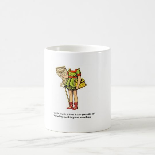 Sarah-jane forgets her head coffee mug