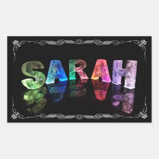 Sarah - la Sarah conocida en 3D se enciende la fo Rectangular Altavoces