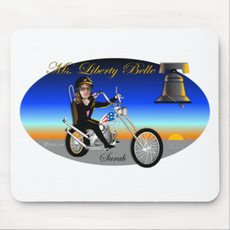 Sarah Liberty Belle Oval Mouse Pad