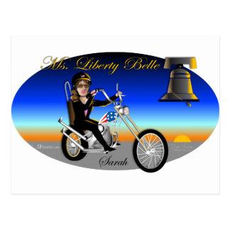 Sarah Liberty Belle Oval Postcards