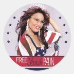 Sarah libre Palin Etiquetas Redondas